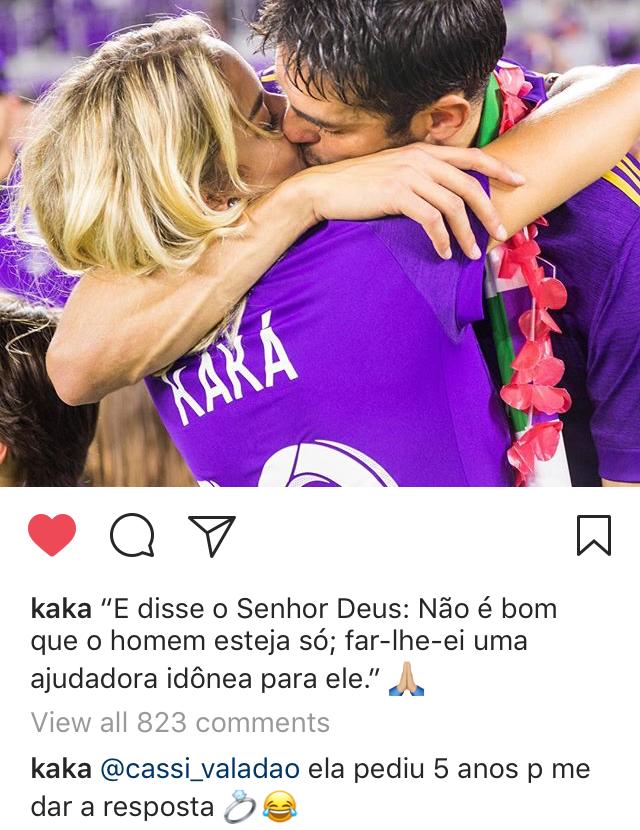 Kaká e Carol Dias (Foto: reprodução/instagram)