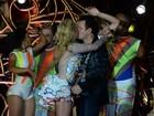 Joelma e Chimbinha se beijam em gravação de DVD