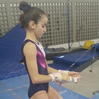Camille Fonseca, ginasta de Praia Grande (Foto: Arquivo pessoal / Mitio Okuda)