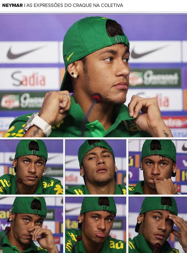 neymar coletiva seleção brasileira mosaico (Foto: Bruno Domingos/Mowa Press)