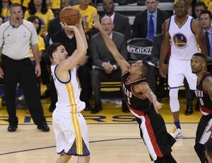Golden State x Portland Trail Blazers playoffs Klay Thompson Lillard NBA (Foto: EFE)