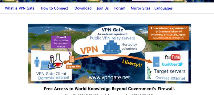 VPNGate é o VPN japonês (Foto: Reprodução/Felipe Vinha)