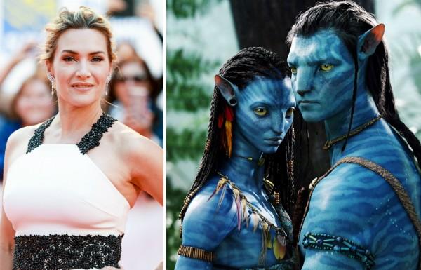 A atriz Kate Winslet e os habitantes o planeta Pandora em Avatar (2009) (Foto: Getty Images/Reprodução)