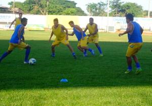 Interporto treina para as semifinais do Tocantinense (Foto: Vilma Nascimento/ GloboEsporte.com)