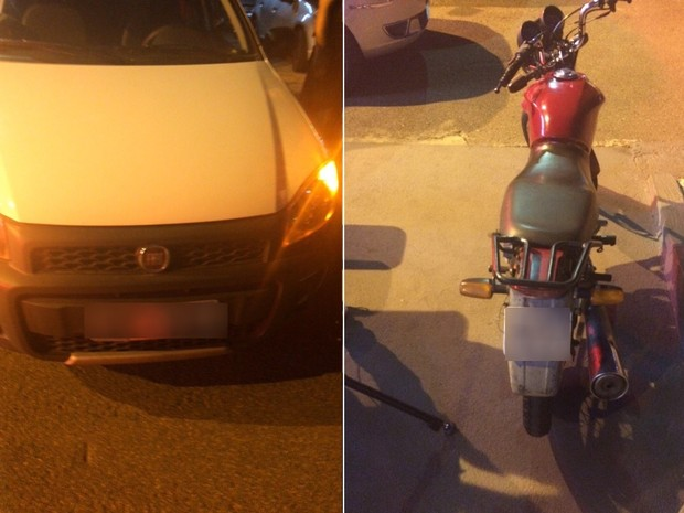Com os suspeitos estavam também dois veículos roubados Goiânia Goiás (Foto: Divulgação/Graer)