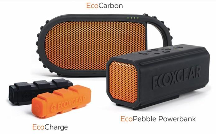 EcoCharge são baterias extras, que podem alimentar as caixas e outros dispositivos, vendidas separadamente (Foto: Divulgação/Ecoxgear)