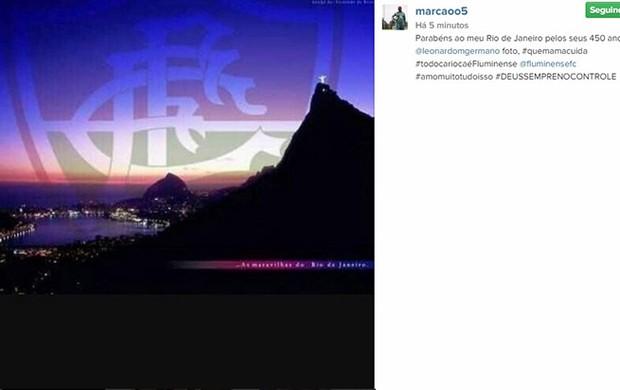 Marcao homenagem ao Rio no Instagram