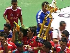 Juína o atual tricampeão da Copa Centro América  (Foto:  Reprodução/TVCA)