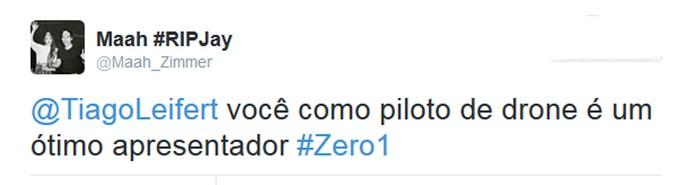 Internauta comenta o 'Zero1' nas redes (Foto: Reprodução da internet)