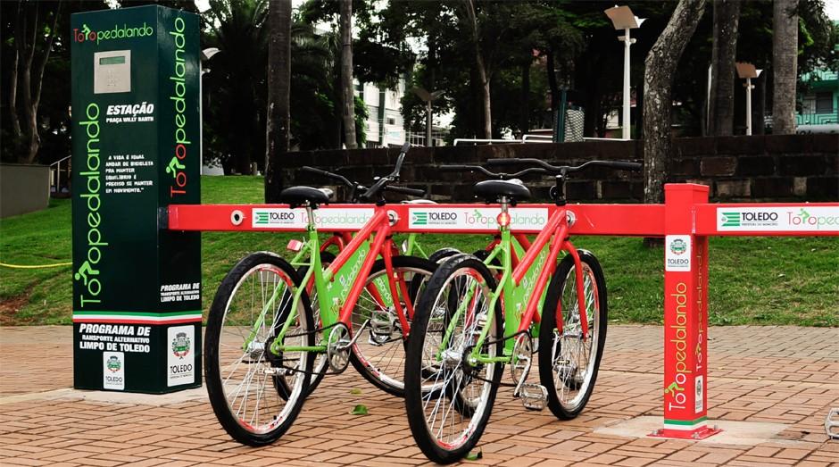 A startup criou um sistema de compartilhamento de bicicletas em Toledo (PR) (Foto: Divulgação)