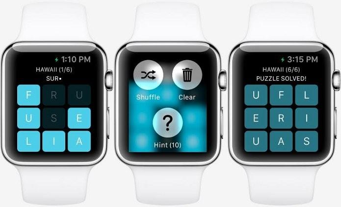 Letterpad, game para Apple Watch, teve imagens conceituais liberadas (Foto: Reprodução/Touch Arcade)
