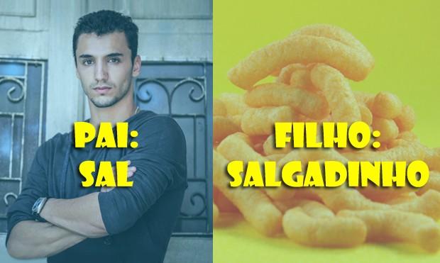 Filho do Sal é... um Salgadinho!!! (Foto: Malhação / TV Globo)