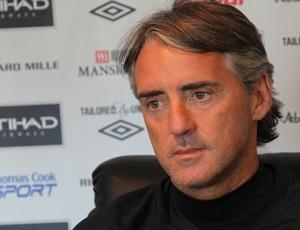 roberto Mancini  técnico do City (Foto: Divulgação/Site Oficial Manchester City)