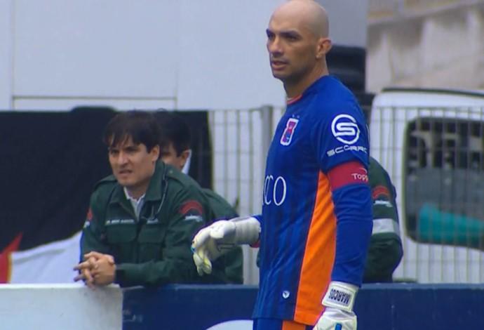 Marcos goleiro Paraná (Foto: Reprodução/Premiere)