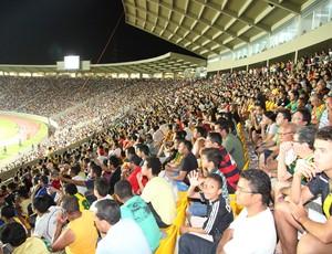 Estádio Castelão-MA, na vitória, por 4 a 1, do Sampaio sobre o Vilhena, pela Série D do Campeonato Brasileiro (Foto: De Jesus/O Estado)