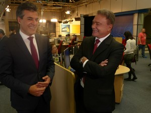 O governador Beto Richa (PSDB) e o senador Alvaro Dias (PSDB) (Foto: Thais Kaniak/ G1PR)
