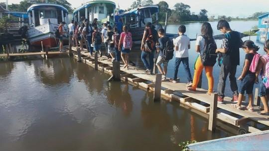 Cheia do Rio Solimões afeta centro de Manacapuru