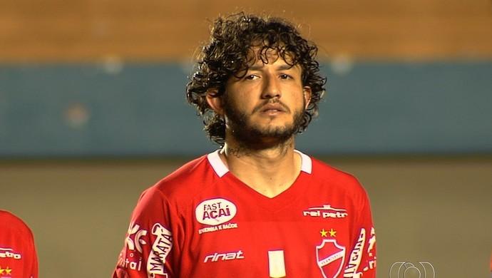 Fernando Neto, meia do Vila Nova (Foto: Reprodução/TV Anhanguera)