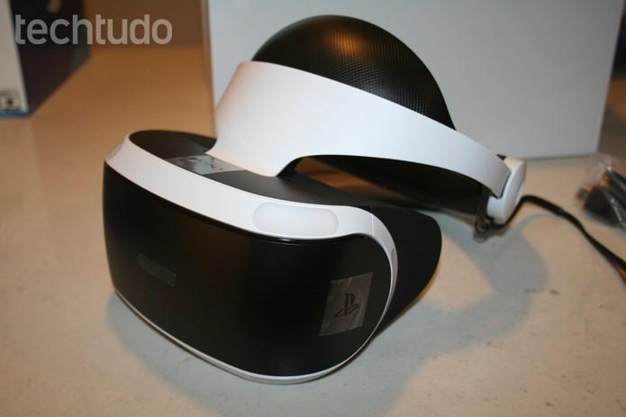 PlayStation VR é o óculos de realidade virtual do PS4 (Foto: Felipe Vinha/Techtudo) (Foto: PlayStation VR é o óculos de realidade virtual do PS4 (Foto: Felipe Vinha/Techtudo))