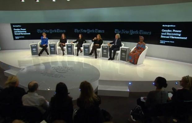 Painel no Fórum de Davos (Foto: Divulgação)