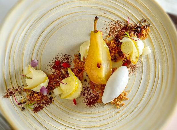 Pera, baunilha, mascarpone e limão    (Foto: Tadeu Brunelli/ Divulgação)
