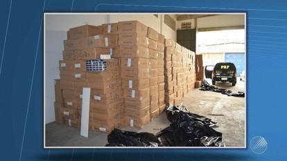 Criminosos que vendiam cigarros clandestinos são preso na Bahia e outros seis estados do