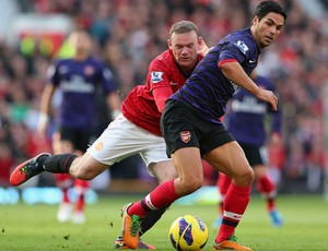 Rooney arteta manchester united x arsenal (Foto: Getty Images)