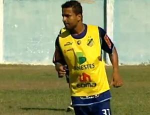 Flávio, atacante do São Mateus (Foto: Reprodução/TV Gazeta Norte)