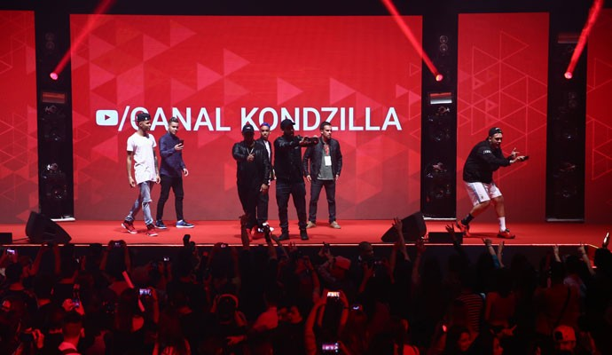 MC Bin Lade e a turma do Kondzilla na YouTube FanFest Brasil 2016