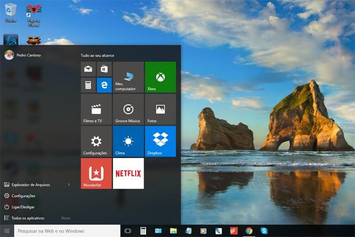 Acesse a área de configurações do Windows 10 (Foto: Reprodução)