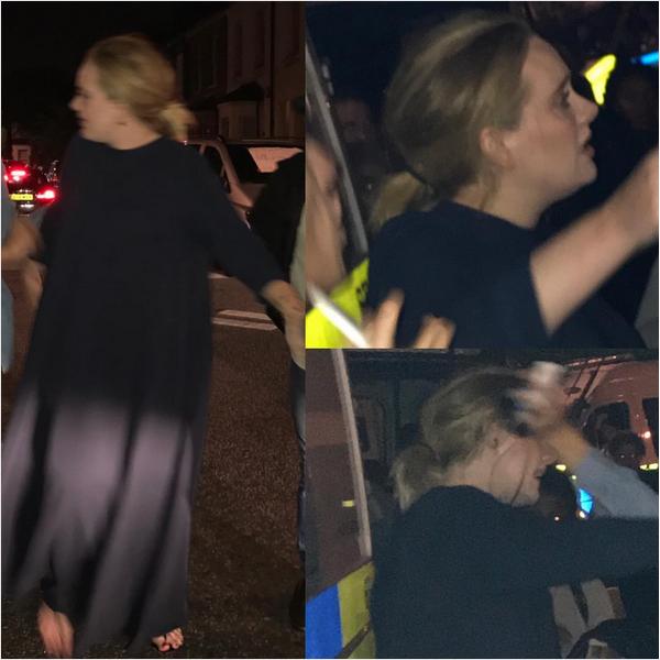 A cantora Adele em sua visita ao arredores da Grenfell Tower em Londres (Foto: Instagram)