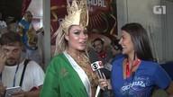 'Completamente enlouquecida', diz a mendigata Fernanda Lacerda na sua estreia na Sapucaí