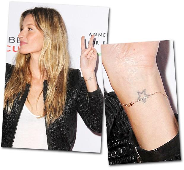 Model tattoo um zoom nas tatuagens que cobrem o corpo de for Gisele bundchen tattoo wrist