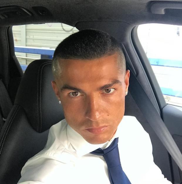O novo cabelo de Cristiano Ronaldo (Foto: Reprodução/Instagram)