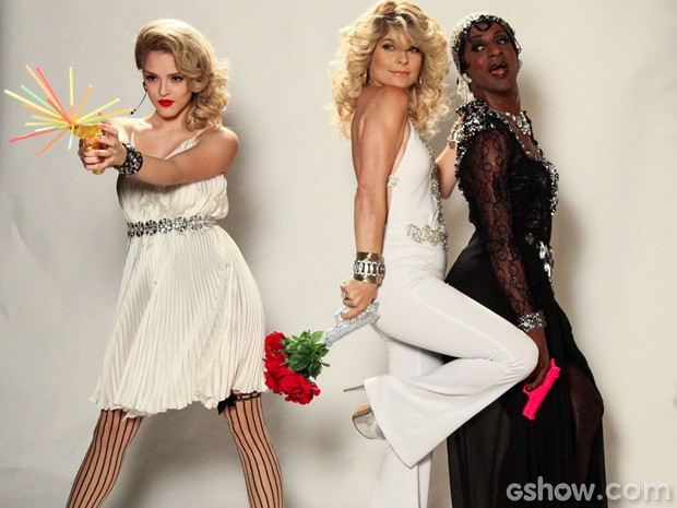 Que trio! Pamela, Megan e Dorothy têm dia de beleza e posam para ensaio fotográfico (Foto: Camila Camacho / TV Globo)