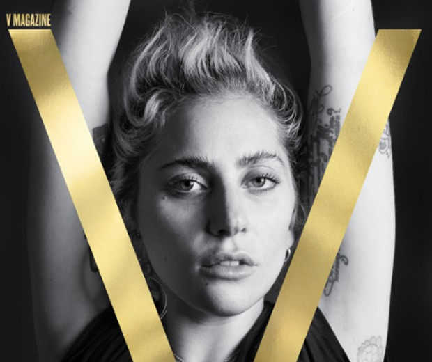Lady Gaga na capa da V Magazine (Foto: Reprodução/Divulgação)