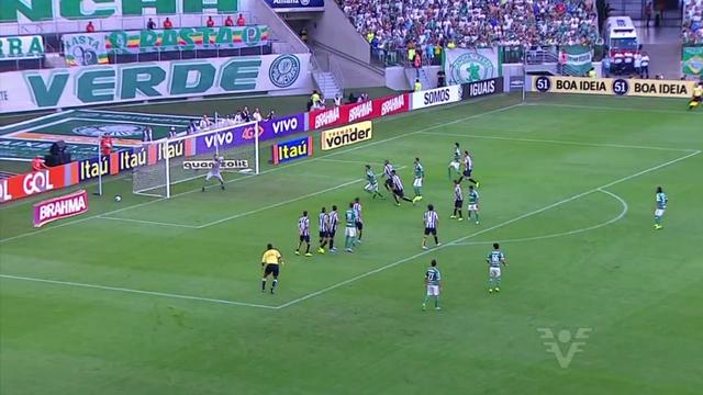 1x0: Palmeiras e Santos no clássico deste domingo (19) (Foto: Reprodução/TV Tribuna)