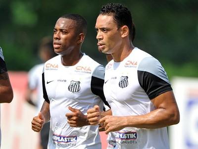 Robinho e Ricardo Oliveira, Santos (Foto: Ivan Storti/ Santos FC)