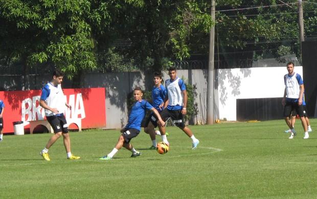 Treino do Santos, CT Rei Pelé (Foto: Flávio Meireles)