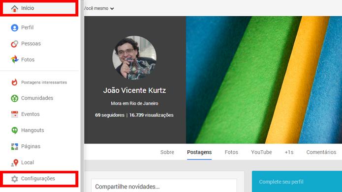 Removendo o número de visualizações do perfil do Google+ (foto: Reprodução/João Kurtz)