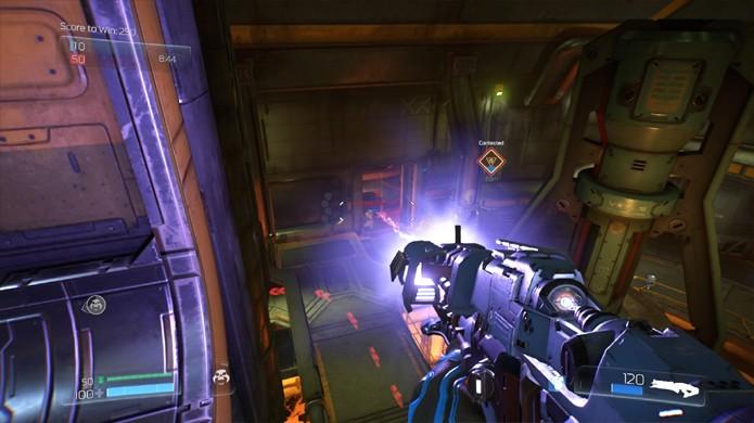A Lightning Gun oferece um feixe de ataque contínuo sem gastar muita munição no novo Doom (Foto: Reprodução/The Digital Sanctum)