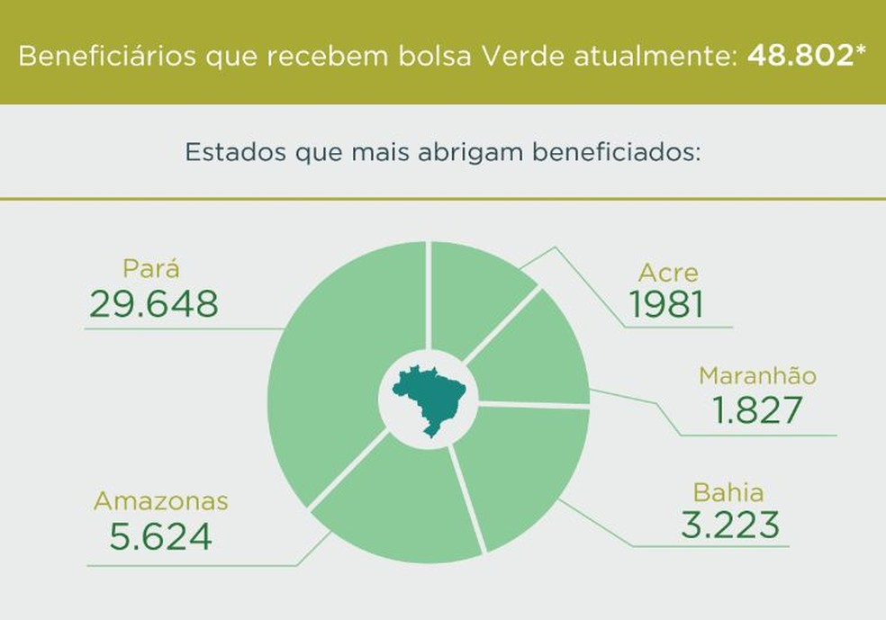 Distribuição de beneficiados com o Bolsa Verde (Foto: Divulgação/MMA)
