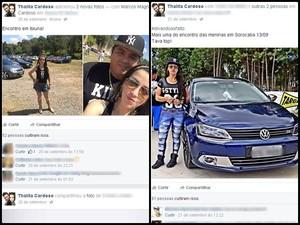 Participação em encontros automotivos também era destacada no perfil (Foto: Reprodução/ Facebook)