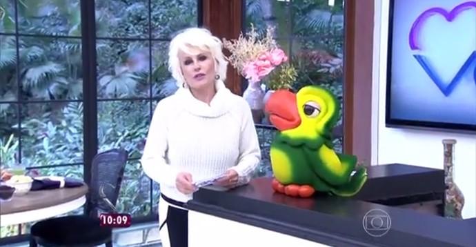 Ana Maria Braga e Louro José saudaram o aniversário de 98 anos de Presidente Prudente (Foto: reprodução TV Globo)