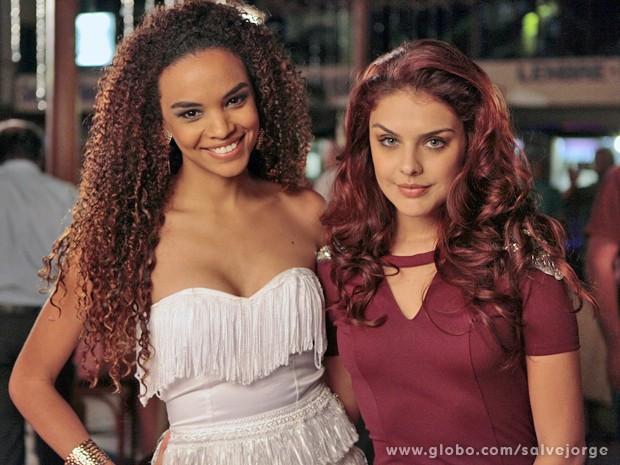 Palome Bernadi e Lucy Ramos também gravaram na gafieira (Foto: Salve Jorge/TV Globo)