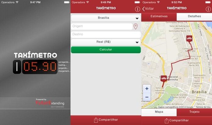 Taxímetro permite saber quanto irá custar uma corrida de táxi (Foto: Divulgação/AppStore)