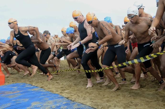 Competição acontece na Praia da Ponta Negra, no Rio Negro (Foto: Divulgação/Sejel)