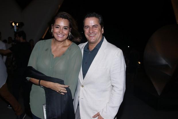Suzy Rego com o marido  (Foto: Thiago Duran/AgNews )