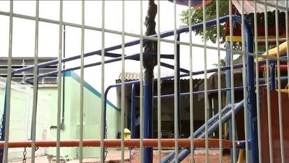 Menina de sete anos está internada após sofrer acidente em parquinho de SP