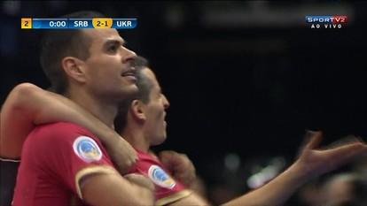 Os gols de Sérvia 2 x 1 Ucrânia pelo Campeonato Europeu de Futsal